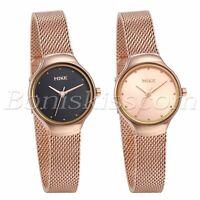 Women's Charm Simple Stainless Steel Mesh Band Round Analog Quartz Wrist Watch