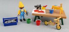 Playmobil~Santa's North Pole Toy Workshop~Bench~Elf~Toys~Tools~Diorama~S52
