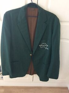 Vintage Mens Blazer Coat Jacket Australia Team Sykes 38 Size