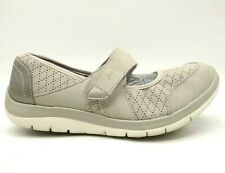 Aravon Gray Adjustable Mary Jane Comfort Driving Loafers Shoes Women's 8.5 EE