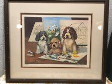 "26x 22 Sadako Mano "" Artist Puppies "" Signed Limited Edition 305/500 Lithograph"
