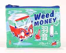 Blue Q Coin Purse Weed Money 95% Recycled Material Zipper
