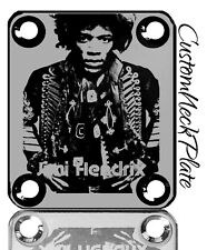 Black Engraved Jimi Guitar Neck Plate  fits Fender tele/strat/squier