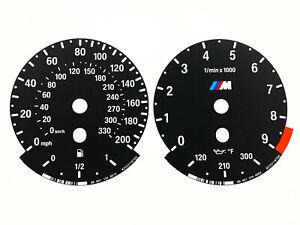 BMW E9x E90 E92 E93 M3 E70 X5M Speedometer dials OEM MPH Instrument cluster
