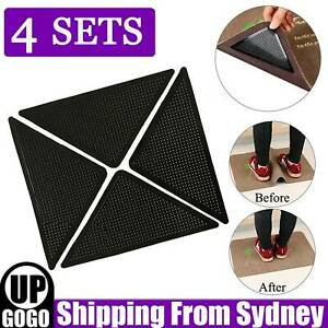 8PCS Rug Grippers Non-Slip Reusable Carpet Mat Gripper Anti Skid Washable Mat AU