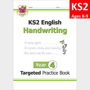 KS2 Year 4 English Targeted Practice Book Handwriting CGP