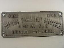 Reggio Calabria - Waggonschild Aluminium v. 1965 - #334 #E - gebr.