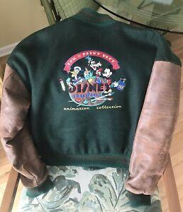 Vintage Disney Studio Bomber Animation Department Leather Varsity Jacket M Coat