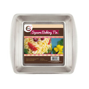 2Pcs Non Stick Square Baking Tray Bakeware Kitchen Pie Tin Cake Brownies Oven