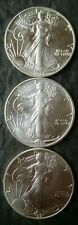 1988, 1990, and 1991 $1 American Silver Eagle Dollars