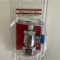 """Lasco Water Supply Valve 06-7253 5/8"""" O.D.-1/2"""" to 3/8"""" Comp Water Line"""