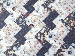 50 X 5 INCH SQUARES COTTON PATCHWORK FABRIC CHARM PACK - DOG SHOW