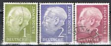 Germany 1954. President Heus. (25mm x 30mm) 1, 2 & 3 Dm. Used.