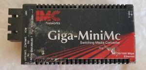 IMC NETWORKS 856-10730 GIGA-MINIMC 10/100/1000 Mbps GIGABIT FIBER CONVERTER