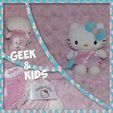 Peluche Hello Kitty - robe rose sac à main bleu - 15cm - Ref C33