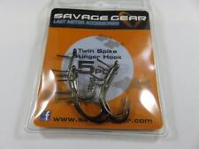 SAVAGE GEAR MEDIUM TWIN SPIKE STINGER HOOK X5 SIZE 1 BARBED FOR SOFT LURES