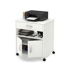 South Shore Axess Printer Cart on Wheels, Pure White
