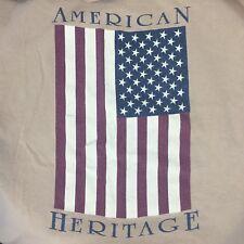 New listing Vtg 1990s 90s American Heritage Flag T Shirt Mens Xxl 2X Army Tan Single Stitch