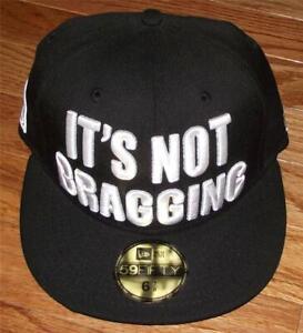 NWT New Era Muhammad Ali It's Not Bragging Fitted Hat 100% Wool 59Fifty *7U