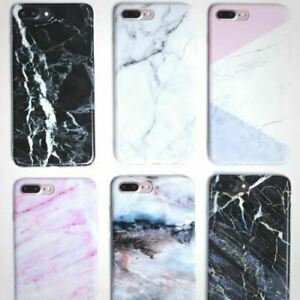 Granite Marble Soft Silicone Phone Case Cover For iPhone 6s XS MAX XR X 7 Plus