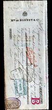 """COGNAC (16) ALCOOL / EAU DE VIE de COGNAC """"M. DE BONNET & Co"""" en 1899"""