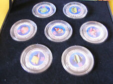 """New listing 2000 Cook Islands 7 Color Coins """" Coral Fishes """""""
