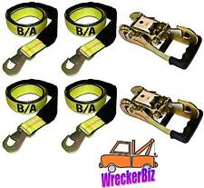 (4) WHEEL LIFT STRAPS, (2) RUBBER HANDLE RATCHETS DYNAMIC VULCAN CENTURY LIFT