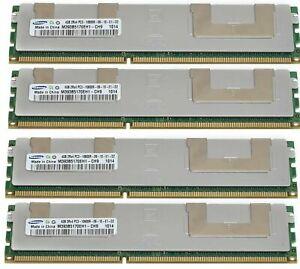 16GB(4x4GB)DDR3 PC3-10600R DDR3-1333MHz ECC RAM DELL POWEREDGE T410 T610 T710