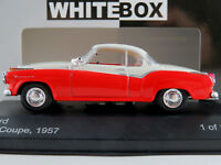 WhiteBox WB128 Borgward Isabella Coupé (1957) in rot/mattweiß 1:43 NEU/OVP