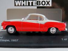WhiteBox WB128 Borgward Isabella Coupé (1957) in rot/mattweiß 1:43 NEU/OVP