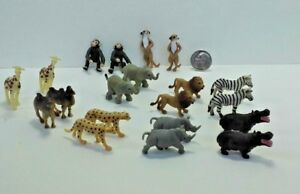 Dollhouse Miniature Noah's Ark  Zoo Animals Toy Set 20 pc Works with 1:12 scale.