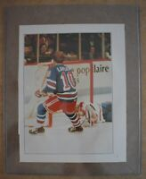 vintage GUY LaFLEUR new york rangers BOOK PAGE PHOTO return to Montreal Forum