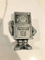 Vintage Banthrico Coin Bank Metal Retro Robot Quickbank Phone Calculator Comp