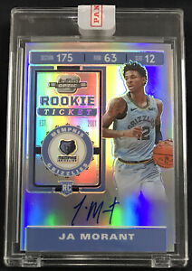 2019-20 Contenders Optic Ja Morant RC Silver Prizm On Card Auto Rookie Autograph
