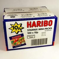 HARIBO SWEETS STARMIX MINI PACKS Box of 100 Jelly Gummy Sweet Bags Wholesale