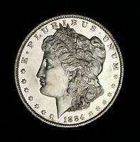 1884 O BU UNC FROSTY PL MIRRORS!! PROOF LIKE COIN MORGAN SILVER DOLLAR STUNNING