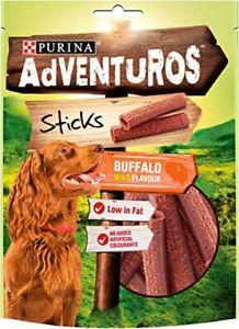Adventuros Sticks Dog, Sticks Dog Treats, Buffalo Flavour, 120g,