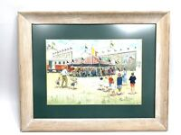original signed painting frank steele circus fairground
