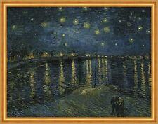 Sternennacht über der Rhone Starry Night Vincent van Gogh Arles Boot B A2 03318