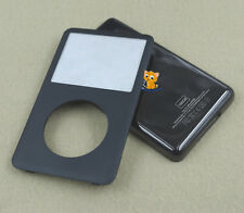 All Black Front Faceplate Housing Case Cover for iPod 7th Classic Thin 160GB
