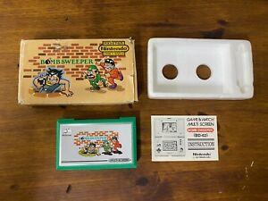 Nintendo Bomb Sweeper  Game & Watch Multiscreen BD-62 IN BOX + Manual