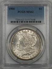 1900 Morgan Silver Dollar $1 PCGS MS-62 Lightly Toned Reverse (Better Coin) (4B)
