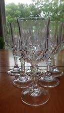 Crystal Longchamp Water Glasses Goblets by Cristal D'Arques France 6 8oz stems