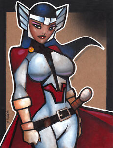 Lady Sif by George Sportelli (8.5x11) - Original Comic Art