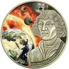 2016 1 Oz Silver HELIOCENTRIC THEORY Copernico Coin - 1000 Francs Burkina Faso.