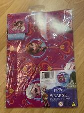 Disney Frozen Gift Wrap Set 4 x Sheets 4 x Tags