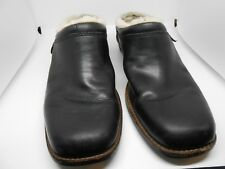 UGGS 5400 Black Clogs Loafer Mule Shoes Boot Sheepskin Leather Women's 6 GUC