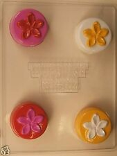 PLUMERIA FLOWER COOKIE CLEAR PLASTIC CHOCOLATE CANDY MOLD AO244