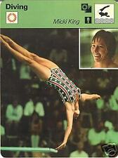 MICKI KING DIVING GOLD MEDAL 1972 OLYMPICS 1977 FOCUS ON SPORTS CARD