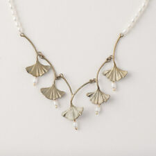 Michael Michaud - Pearl Ginkgo Necklace - Silver Seasons Jewelry - Ginko Leaf